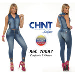 CHNT DELUXE JEANS WITH DENIM VEST SIDE 7 USA 12 COLOMBIA - awesome jeans colombia