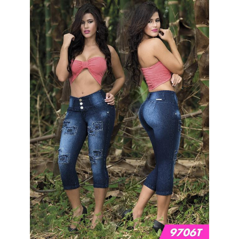Capri Levantacola Colombianos Tabbachi  Ref. 103 -9706T SIZE 1 USA 6 COL - awesome jeans colombia