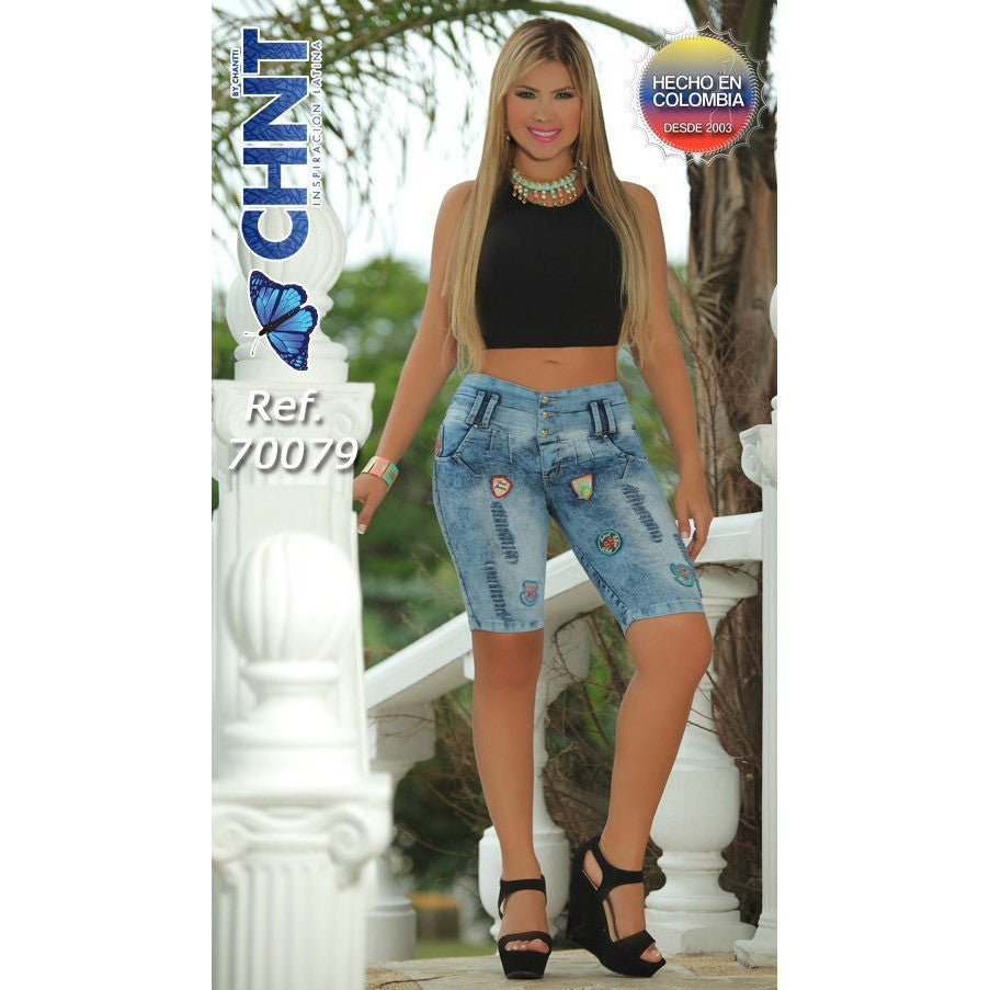 CHNT SHORT REF.70079 SIZE 3,5 USA 8 ,10 COL - awesome jeans colombia