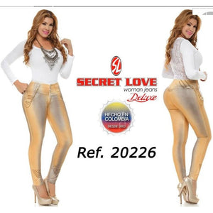 20226PAT-N JEANS LEVANTACOLA SIZE 7 USA 12 COL - awesome jeans colombia