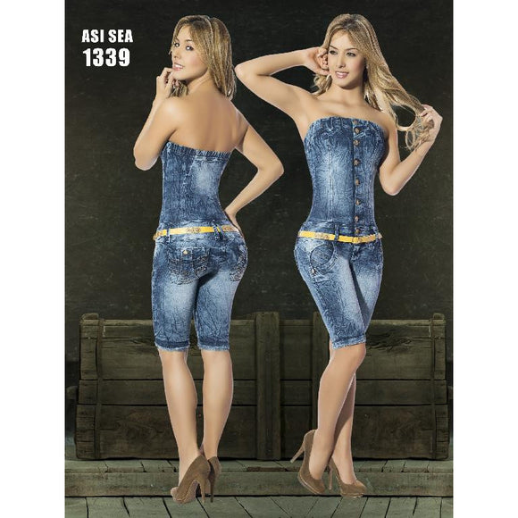 Enterizo Capri Levantacola Colombiano Asi Sea  Ref. 124 -1339 size 11  USA 16 COL - awesome jeans colombia
