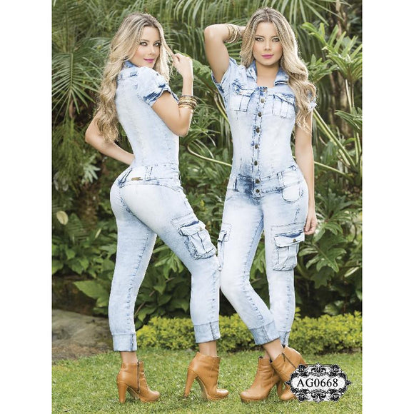 Enterizo Dama moda Colombiano Asi Sea  Ref. 124 -0668 SIZE 3 USA 8 COL - awesome jeans colombia
