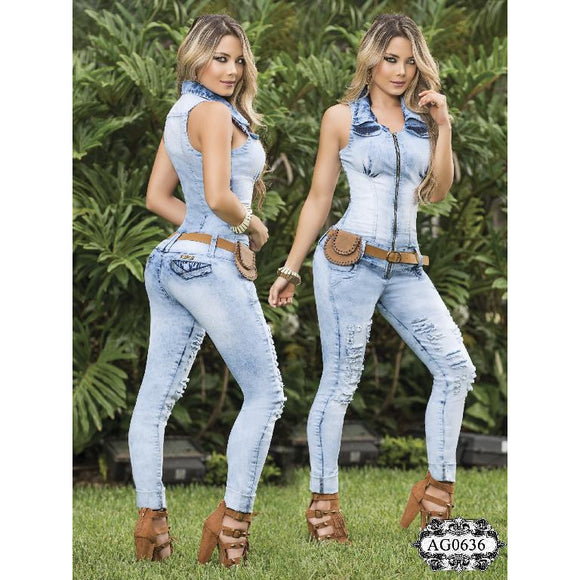 Enterizo Dama Moda Asi Sea  Ref. 124 -0636 SIZE 3 USA 8 COL - awesome jeans colombia