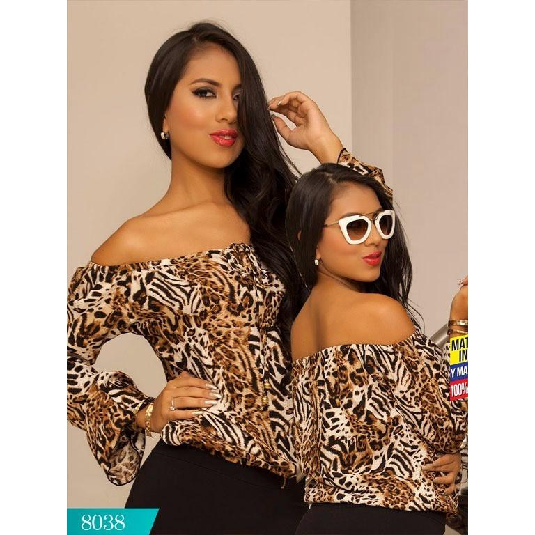 Colombian Fashion Blouse Cereza - Animal Print ONE SIZE - awesome jeans colombia