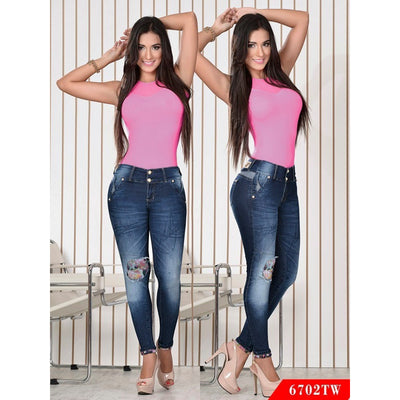 Butt Lift Colombian Jeans Top Women  Ref. 123 -6702TW SIZE 3 USA 8 COL - awesome jeans colombia