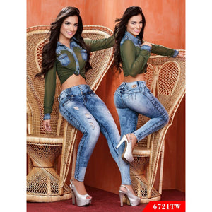 be41214cc55 Butt Lift Colombian Jeans Top Women Ref. 123 -6721TW SIZE 9 USA 14 COL