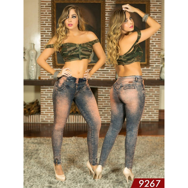 Jeans LevantaCola Colombiano Azulle  Ref. 232 -9267 SIZE 3 USA 8 COL - awesome jeans colombia