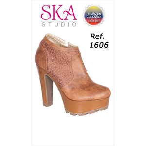 1606bTA SIZE 7 USA SHOES TALLA 37 SKA STUDIO ANKLE BOOTS - awesome jeans colombia