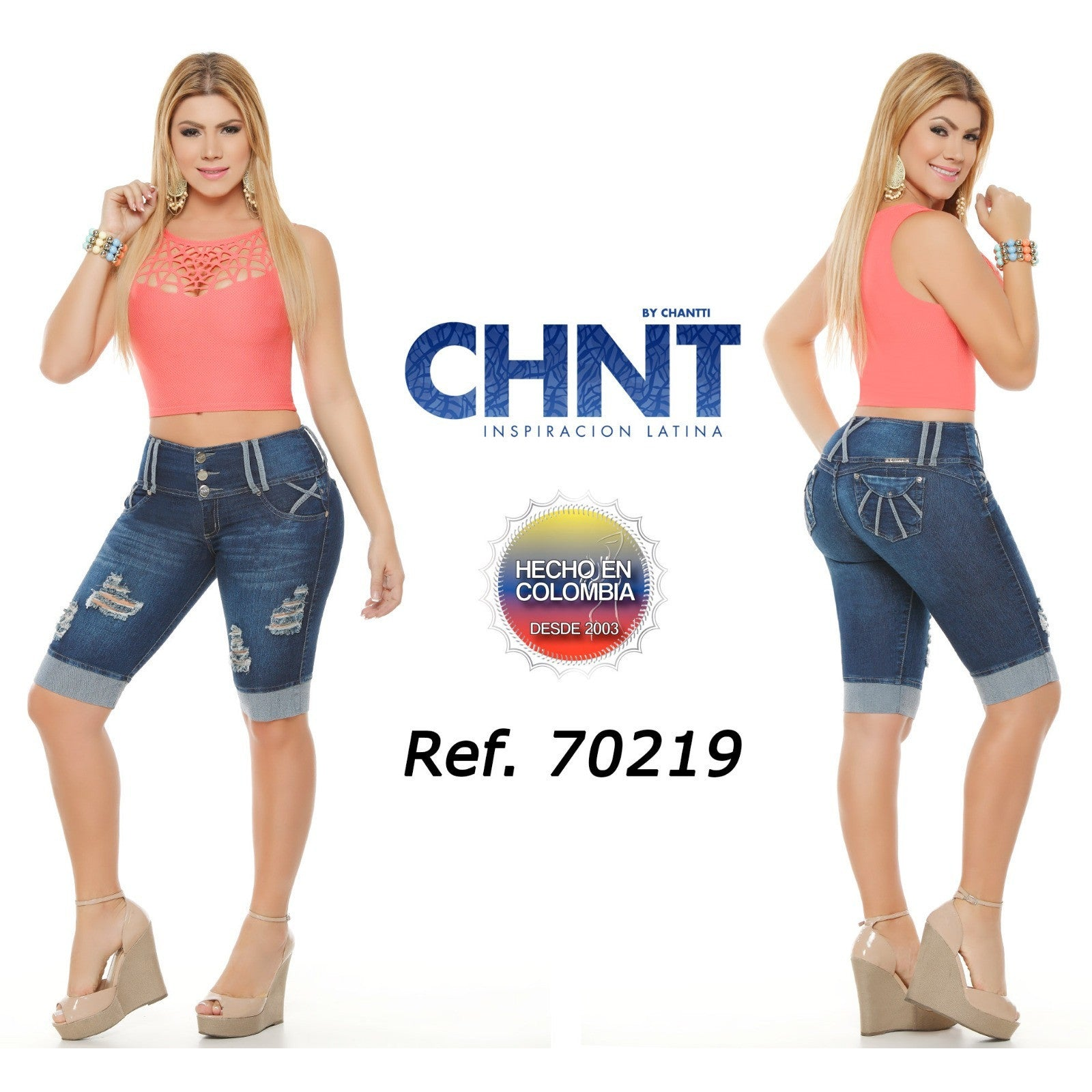 70219DTOPA-B BUMP UP TOREROS SIZE 3 USA 8 COL - awesome jeans colombia
