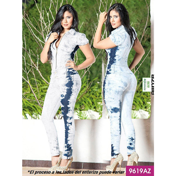 Enterizo Levantacola Colombiano Azulle  Ref. 232 -9619AZ SIZE 5 USA 10 COL NEWLY ARRIVED - awesome jeans colombia