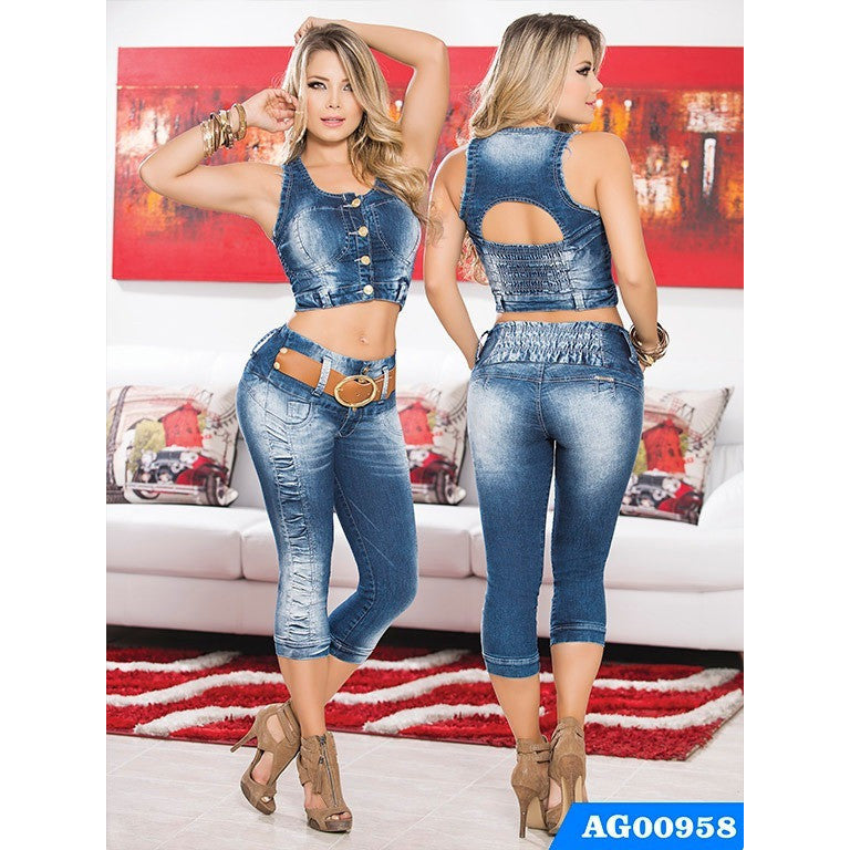 Conjunto Colombiano Levantacola Asi sea Ref. 124 -0958 SIZE 3 USA  8 COL NEWLY ARRIVED - awesome jeans colombia