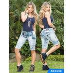 Capri Dama Moda Colombiano Asi Sea  Ref. 124 -1536  SIZE 5 USA  10 COL NEWLY ARRIVED - awesome jeans colombia