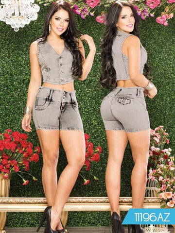 Short Set Azulle - awesome jeans colombia