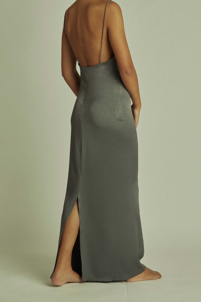 Phoebe Slip / Grey Double Sateen