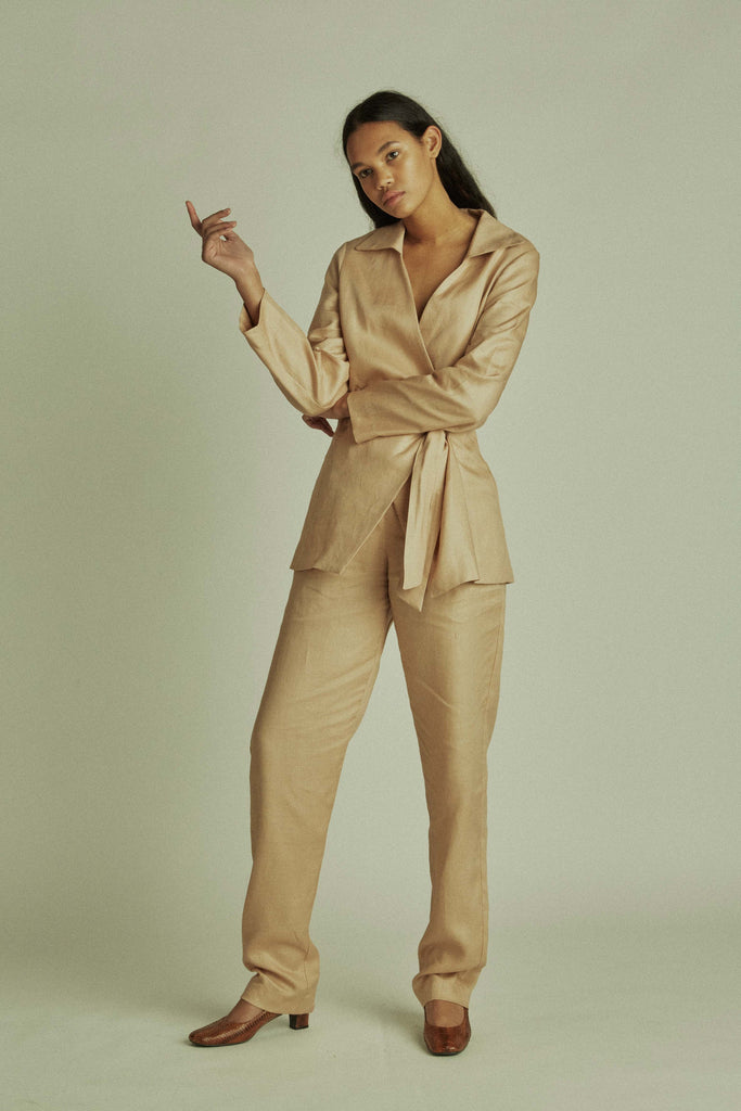 Bobby Trousers / Blush Linen