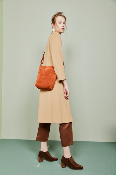 Bucket Bag / Terracotta Suede