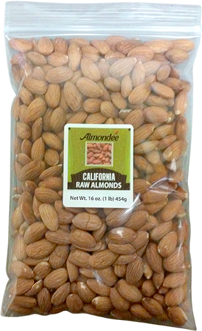 Raw Almonds - 1-lb Bag