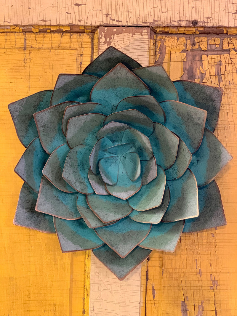 Painted Succulent Wall Hanging