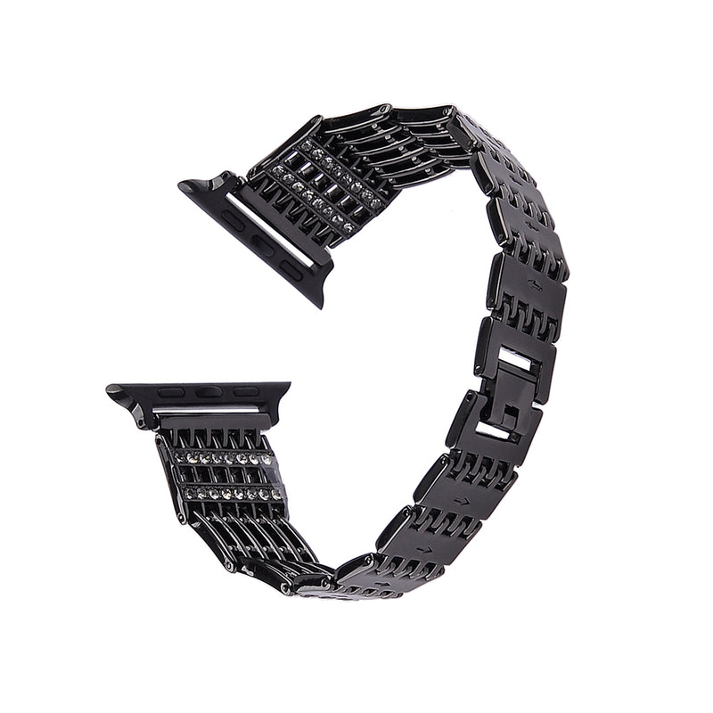 Stainless Steel Watch Band- Black