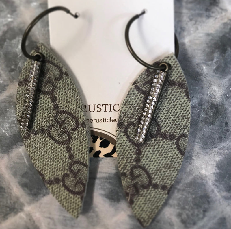 Gucci RePurposed Feather Earrings