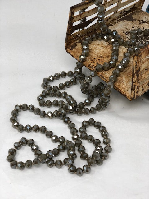 "60""Bead Necklaces-Browns"