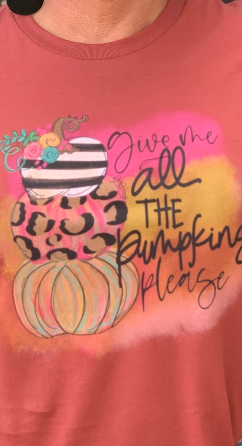 Pumpkins Please-Fall Tee