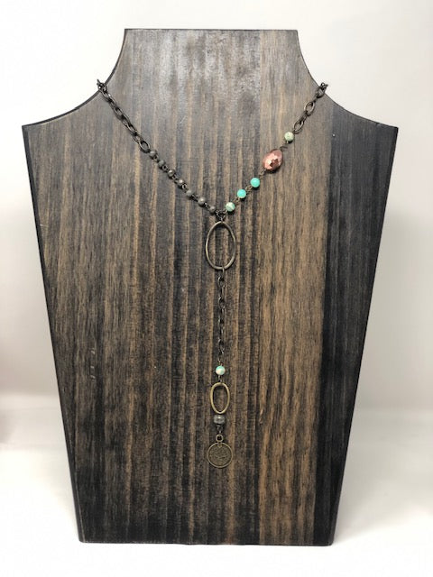 Bead & Chain Y Necklace