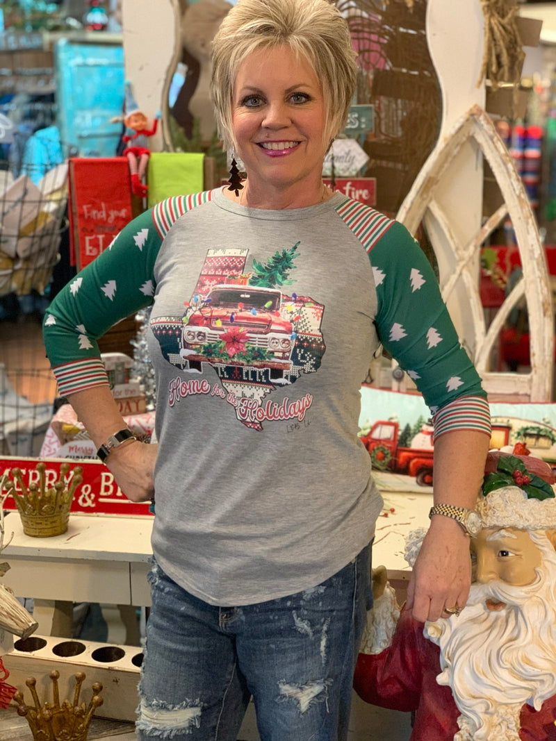 Christmas Truck on Texas Tee