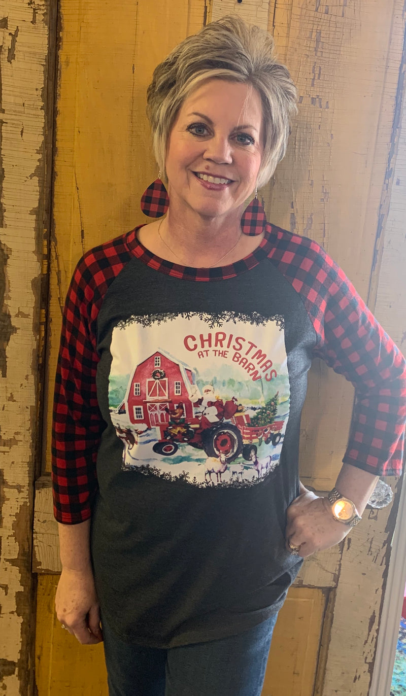Christmas at the Barn Tee