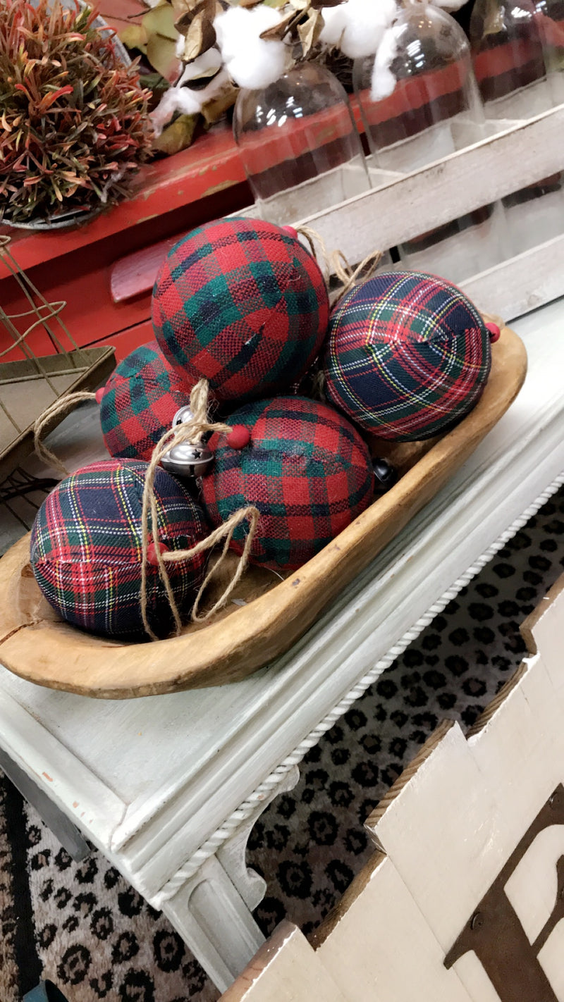 Plaid & Bells Ornament