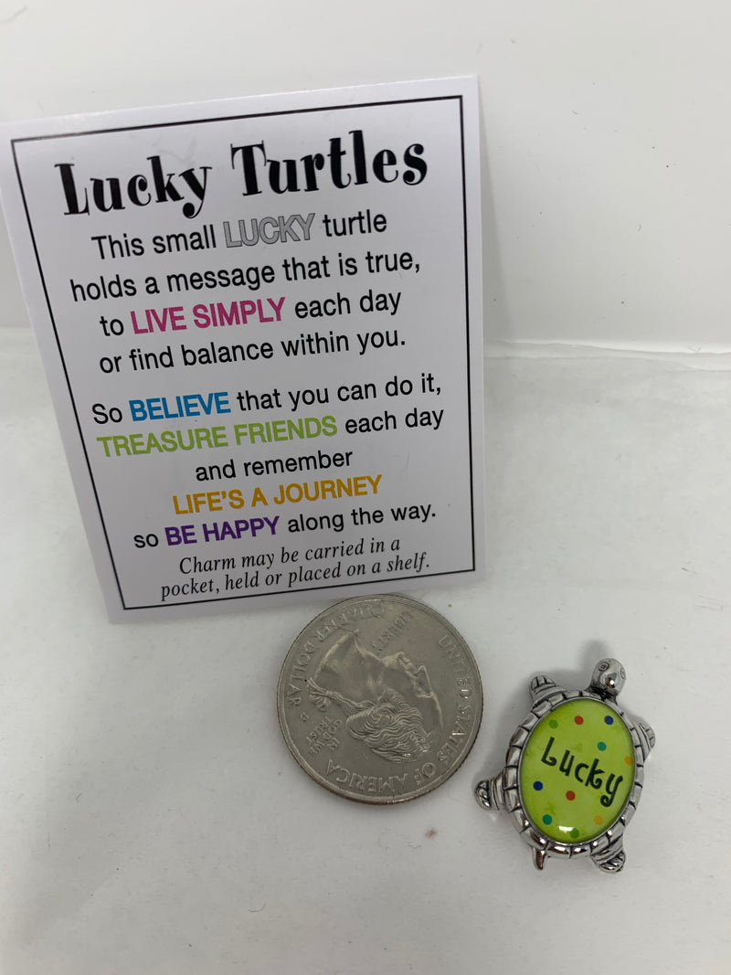 PTower Pocket Charms Lucky Turtle