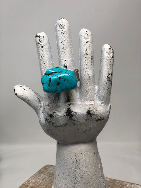 Chunky Faux Turquoise Ring