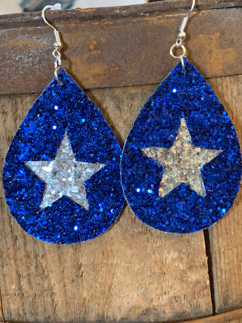 Royal & Silver Blue Earrings