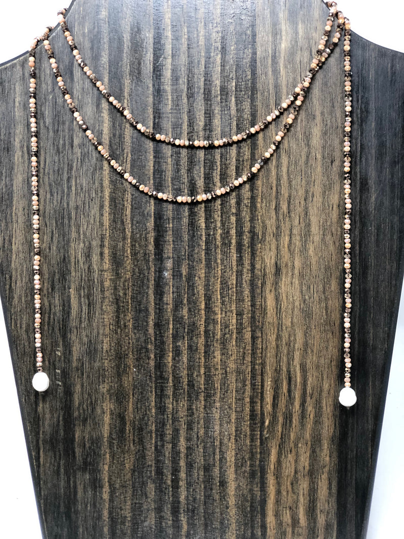 Tiny Beaded Lariat