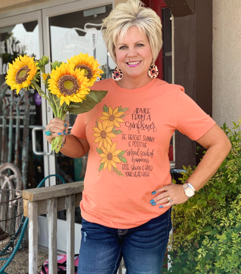 Advice from a Sunflower Fall Tee