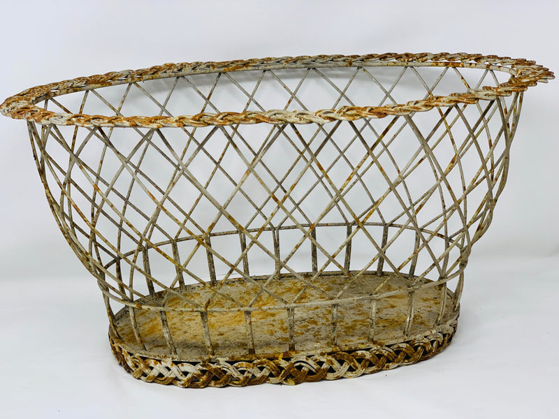 Braided Wire European Basket-Large