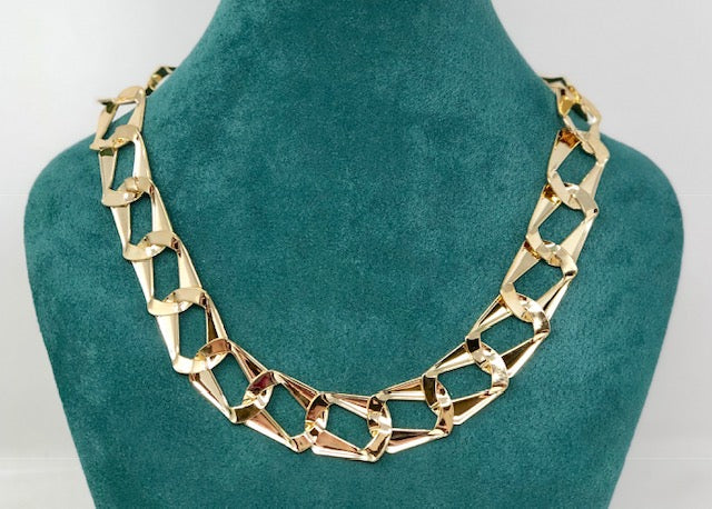 Houndstooth Link Chain Necklace