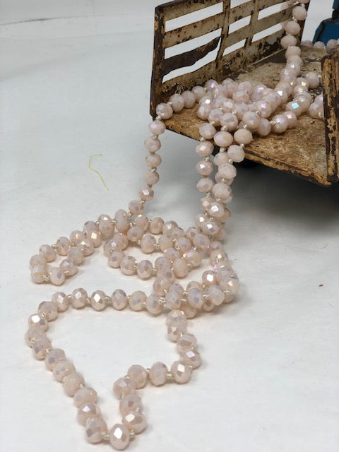 "60""Bead Necklaces-Pinks"