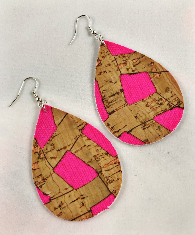 Cork & Denim Earrings