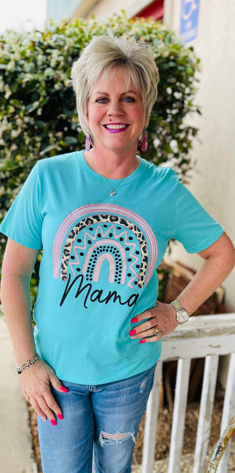 Rainbow Mama Mother's Day Tee