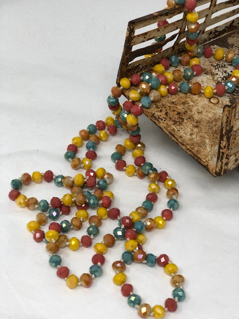 "60""Bead Necklaces-Multi-Color"