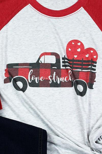 Valentine Love Struck 3/4 Raglan Sleeve