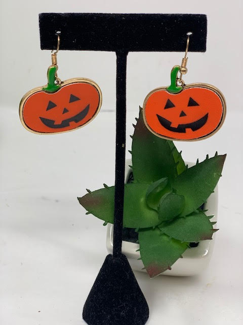 Pumpkin Face Earrings