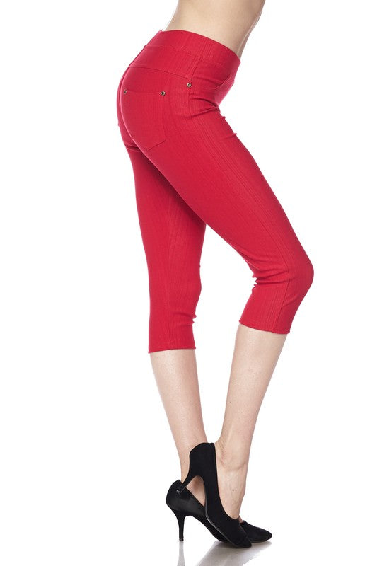 Capri Jeggings-Courvy Couture