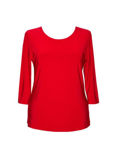 3/4 Sleeve Top-Red