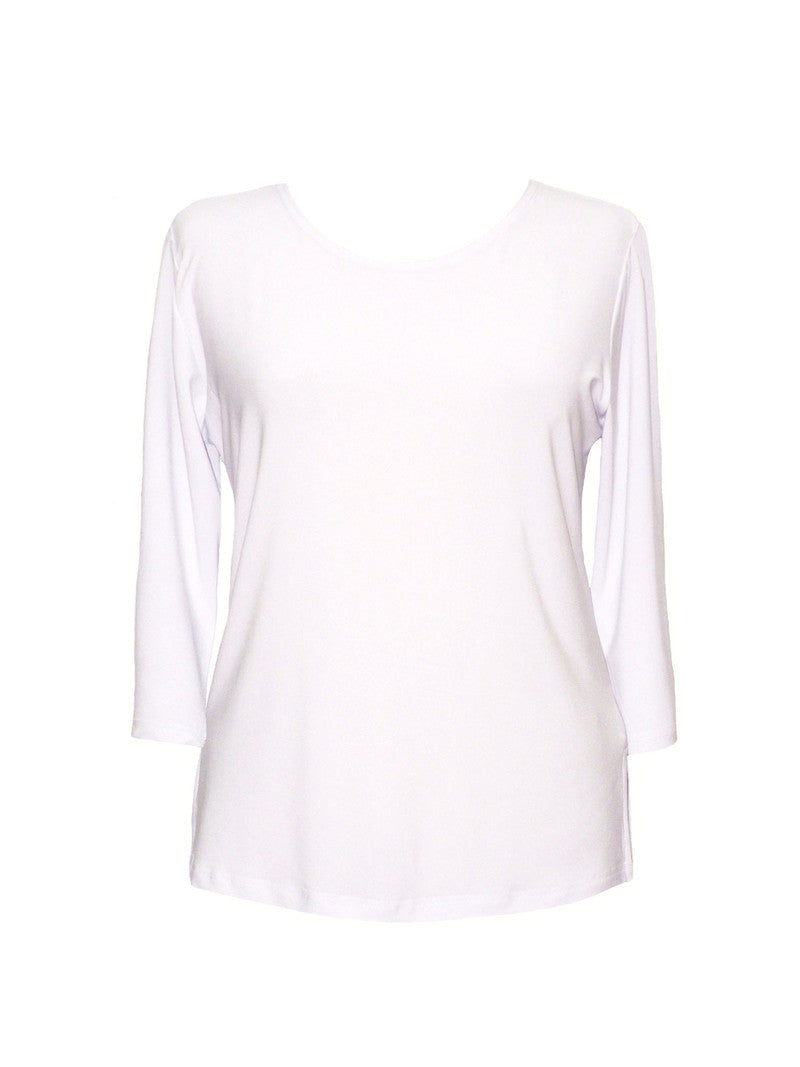 3/4 Sleeve Top-White