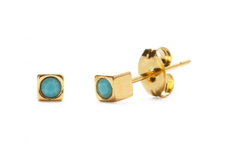 Amano Crystal Cube Studs