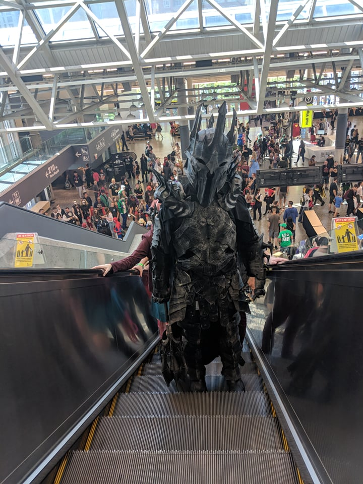 3D printed Sauron cosplay