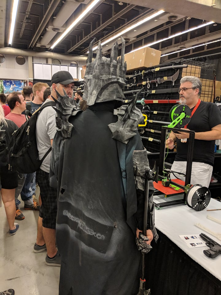 3D Printed Sauron Cosplay back