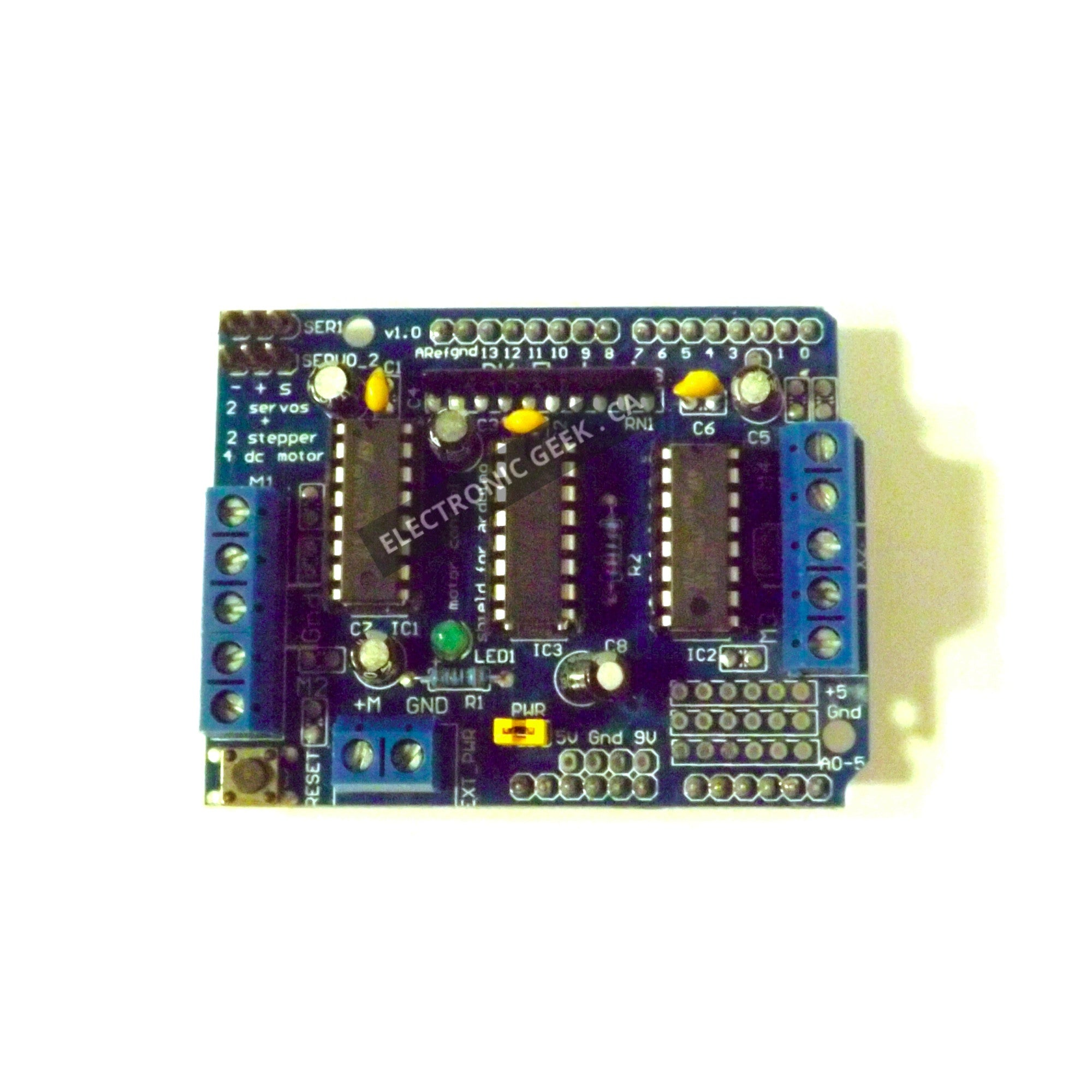 Arduino Accessories Tagged All Items Page 2 Mq2 Smoke Sensor Circuit Built With An L293d Motor Control Shield For